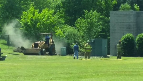 The Hoover Fire Department responded to a natural gas leak near the Lee Branch shopping center on April 30. (Contributed)