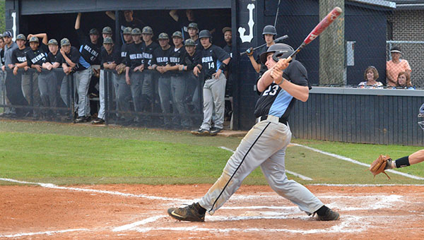 The Helena High School baseball team recorded two wins on Friday, April 24 at Jemison to advance to the third round of the AHSAA 5A State Baseball Playoffs. (Contributed)