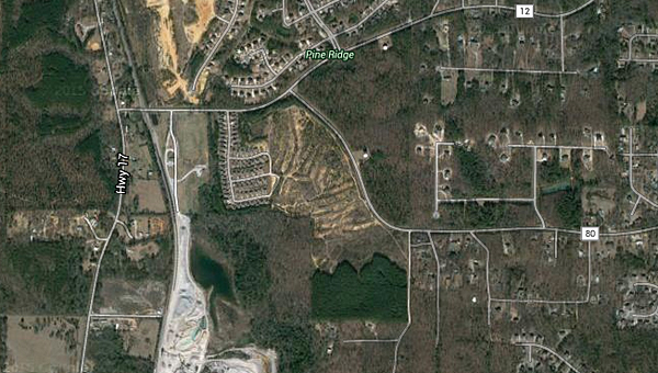 A developer is looking to bring a new subdivision to Alabaster near the intersection of Butler Road and Shelby County 80. (Contributed)