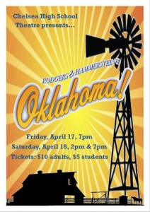 """Chelsea High School students will perform the musical """"Oklahoma!"""" on April 17 at 7 p.m. and April 18 at 2 p.m. and 7 p.m. (Contributed)"""
