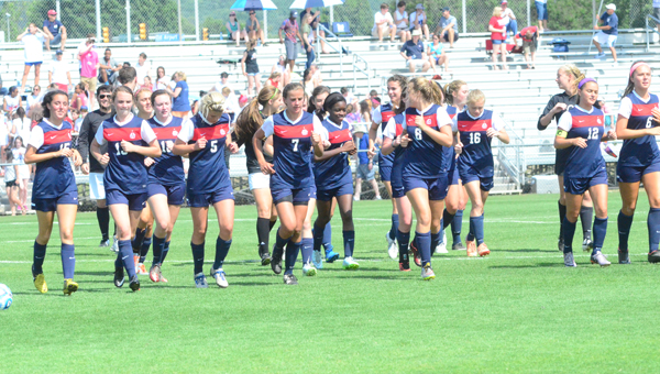 The Oak Mountain Lady Eagles beat Bob Jones on May 8 in the 7A state semifinals by a final of 2-0. They will face Auburn tomorrow morning at 10 a.m. for the 7A state title. (Reporter Photo / Baker Ellis)