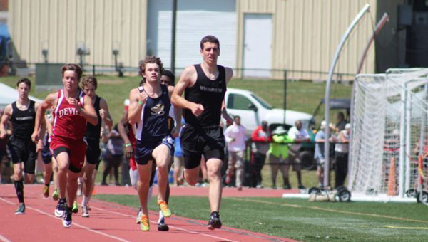 Jake Carrell won his second-straight 800-meter run state title for the Westmister School at Oak Mountain on May 1, Carrell was also a member of the first-place 4x800-meter relay team as well. (Contributed)