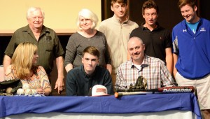 Dillon Calhoun signed with Marion Military Institute on May 11 to continue his baseball career. (Contributed / Dianne Cunningham)