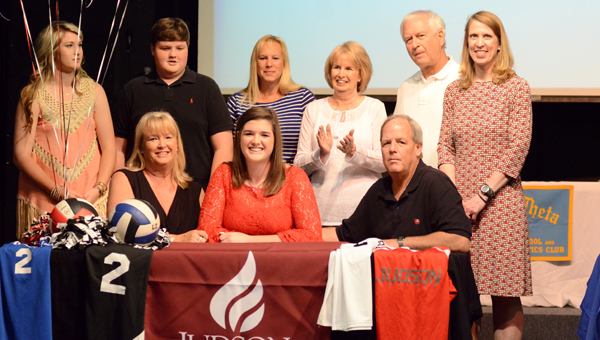 Katie Allen Etheridge signed with Judson College on May 11 to continue her volleyball career. (Contributed / Dianne Cunningham)