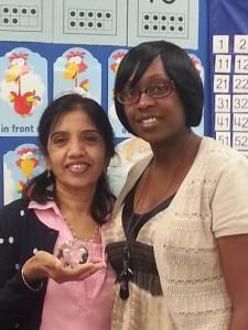 Rajeswari Chodavarupu (left), with Theresa Paris-Hundley, central Alabama program manager for Appleton Learning. (Contributed)