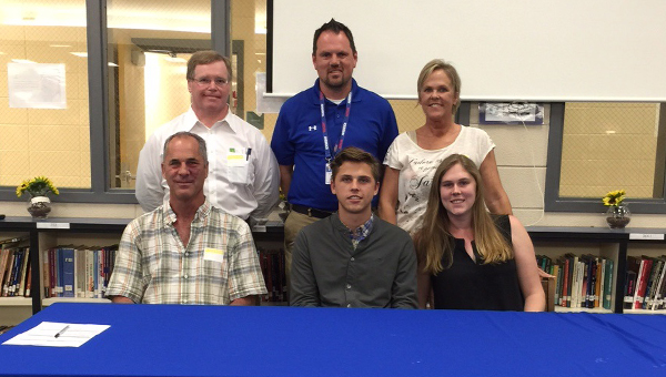 Chelsea senior midfielder Josh Bartlett signed a scholarship on May 6 to continue his soccer career at Itawamba Community College. (Contributed)