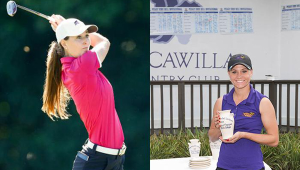 Montevallo sophomores Elaine Wood, left, and Arin Eddy, right, have both been named second team All-Americans by the Women's Golf Coaches Association. (Contributed)
