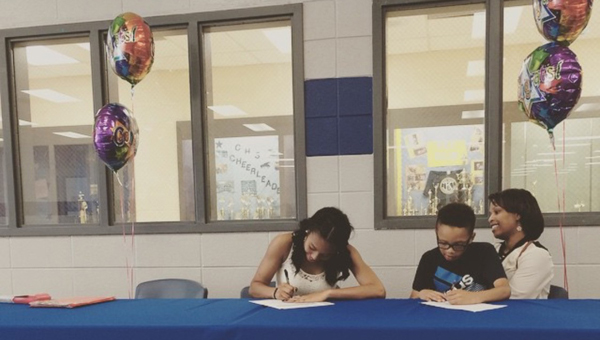 Chelsea High School's Destinee Benton signed with Brewton-Parker College on Thursday, May 14 to continue her volleyball career. (Contributed)