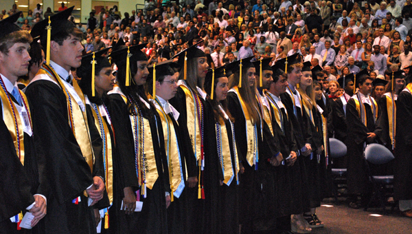The Spain Park High School class of 2015 graduated in front of thousands of friends and family members at Samford University's Pete Hanna Center on May 20. (Reporter Photo / Molly Davidson)