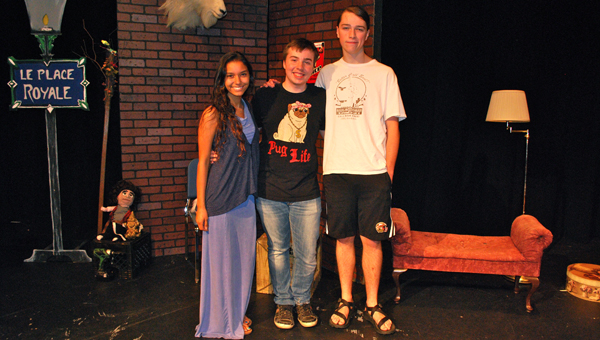 Spain Park High School seniors Asia Rodriguez, Sam Hankins and Conor Mahoney were all honored at the regional level Southeaster Theatre Conference competition. (Reporter Photo / Molly Davidson)