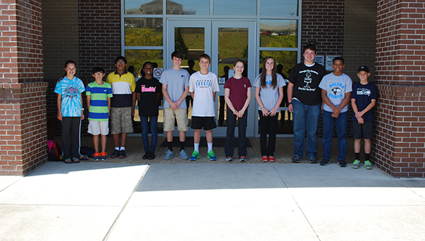 The new Helena Middle School ambassdors were recently selected as upcoming eight graders who will represent their school in the 2015-2016 school year. (Reporter Photo/Graham Brooks)