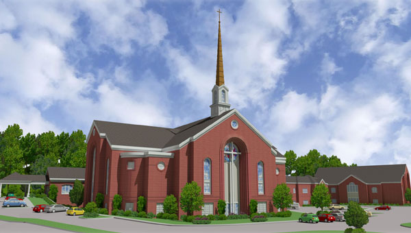 Asbury UMC is planning a $14 million expansion project, which will include a new sanctuary, multi-use space and additional parking. (Contributed)