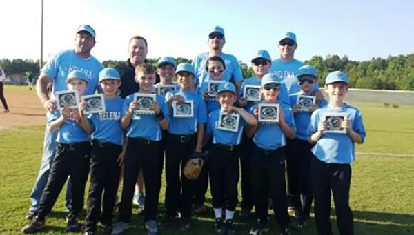 Pictured are the Helena Baseball 9/10s Champions coached by Chad Campbell. (Contributed)