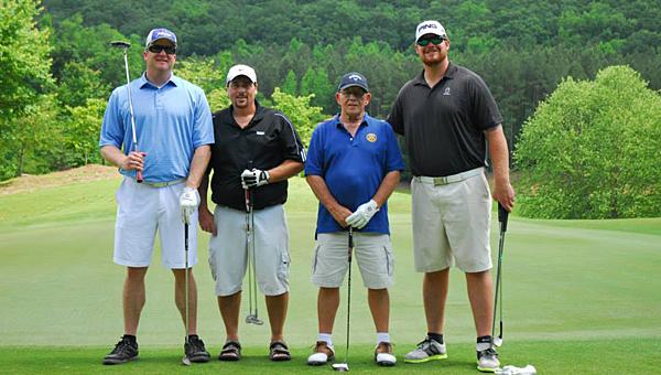 Don Eckis, John Bennett, John Turpin and Lee Ziemba at the 2014 Alabaster-Pelham Rotary Club golf tournament. (File)