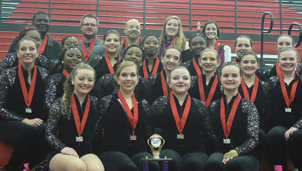The Chelsea High School Winter Guard placed second at the SCGC championships in Nashville in March, and placed ninth out of 32 teams at a regional competition in Pensacola earlier this year. (Contributed)