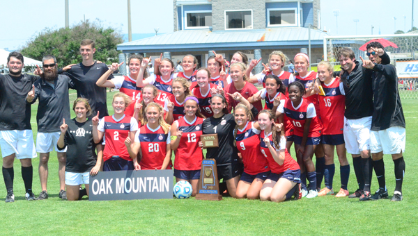 The Lady Eagles of Oak Mountain won their second-straight state title and held their opponents to an incredible 0.2 goals per game in 2015.