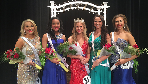Kenlee Hood (center) was crowned Helena High School's first-ever Miss HHS Pageant winner on Saturday, May 2. She is surrounded by the top five finalists. (Contributed)