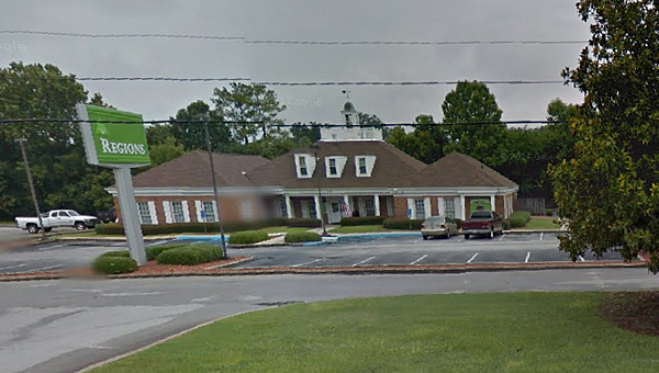 The Regions Bank branch on First Street North in Alabaster will close in late August, the company announced recently. (Contributed)