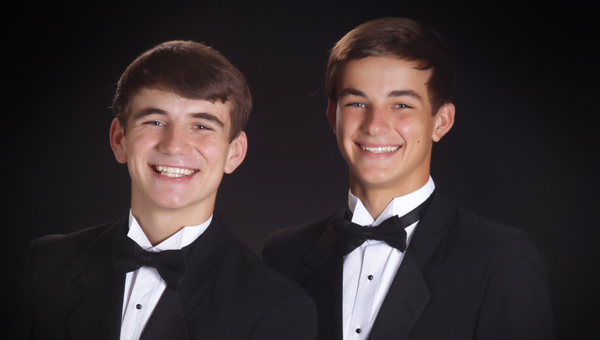 Twin brothers Tyler and Tanner Carter graduated from Shelby County High School on May 21. Tyler will attend Auburn University this fall, and Tanner will go to Marion Military Institute to prep for the Naval Academy in Annapolis, Md. (Contributed)