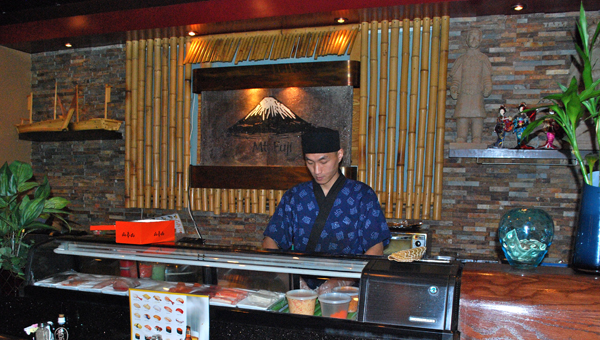 With both hibachi grills and a sushi bar, Mt. Fuji serves authentic and fresh Japanese cuisine. (Reporter Photo / Molly Davidson)