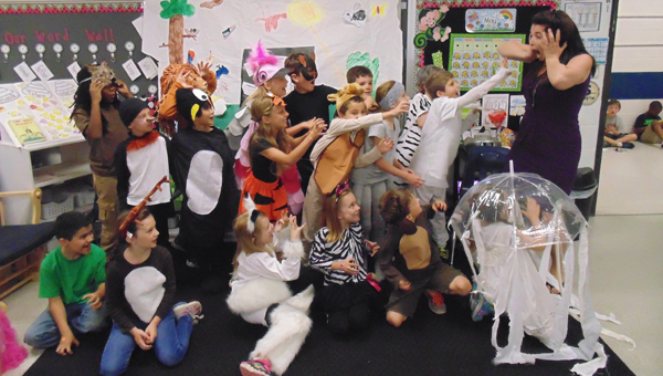 OMES second graders presented a Talking Zoo in their classrooms on May 15. (Contributed)