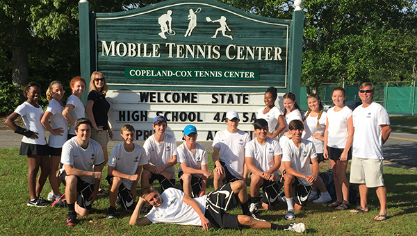 The Helena High School boys and girls tennis teams both qualified for the state tournament in Mobile. (Contributed)