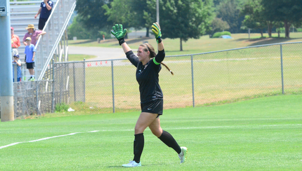 Oak Mountain senior goalkeeper Katie Denny was the anchor on a historically good Lady Eagles defense that only surrendered six goals all season on their way to a 7A state championship. Twice in the 7A state playoffs Oak Mountain had to resort to penalty kicks, and twice Denny led the Lady Eagles to a win. (File)