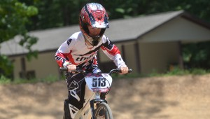 Whitaker Bourn takes on a jump at the BMX bike track in Oak Mountain State Park on June 17. (Reporter Photo/ Baker Ellis)