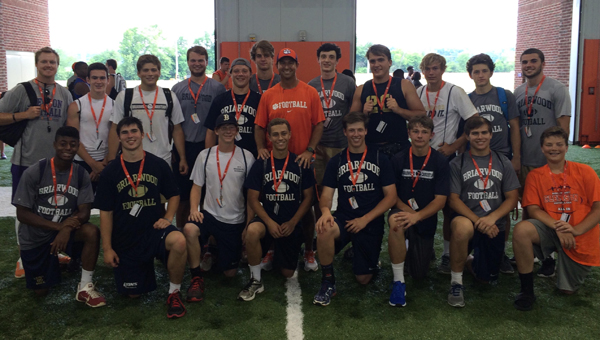 17 football players from Briarwood High School to the Dabo Swinney high school football camp from June 8-10. Swinney, the head coach of the Clemson Tigers, graduated from Pelham High School. (Contributed)