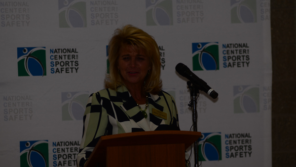 Mayor Marty Handlon of Alabaster speaks on June 24 about the benefits of the the PREPARE Sports Safety Course in Homewood. Alabaster is the most recent city to partner with the National Center for Sports Safety. (Reporter Photo / Baker Ellis)