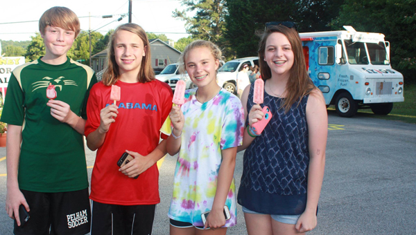 Visitors to Crosscreek's Community Market beat the heat with popsicles from Frios Gourmet Pops-Birmingham. (Contributed)