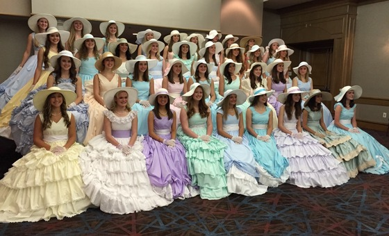 There were 37 girls presented in the May event.