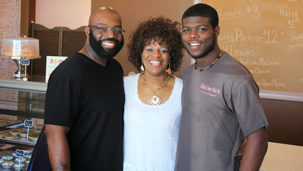 JaWanda's Sweet Potato Pies is a family owned business. JaWanda Jackson's husband and son often join her in the shop. (Contributed)