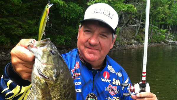 One of professional bass fisherman Mike Delviso's latest catches. (Contributed)