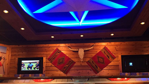 The new bar design features nine new televisions, a 15-foot blue star and a more open appearance. (Contributed)