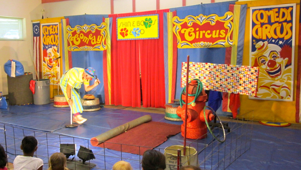 The Skin and Bones' Comedy Circus came to the Albert L. Scott Public Library in Alabaster on June 15. (Special to the Reporter / Ginny Cooper McCarley)