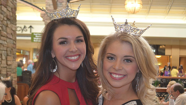 Amanda Ford (right) a Helena native, represented Miss Shelby County and competed in the 2015 Miss Alabama Pageant at Samford University. (Contributed)