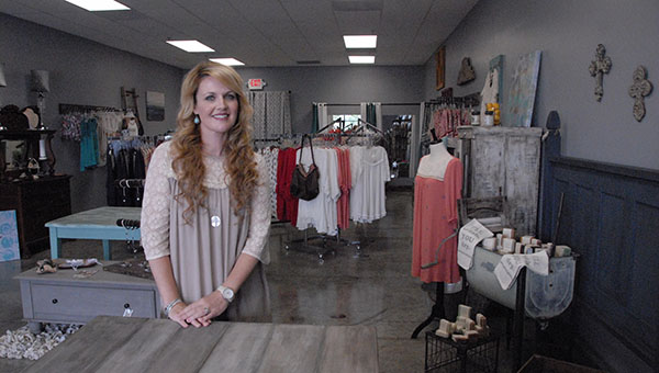 The Grey Street Boutique just opened in Helena and owner Tenille Moore is excited to offer women's clothing as well as unique furniture. (Reporter Photo/Graham Brooks)