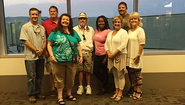 A group of eight Alabaster City Schools employees left the Birmingham-Shuttlesworth International Airport on Jan. 10 to fly to Honduras on a sister school excursion. (Contributed)
