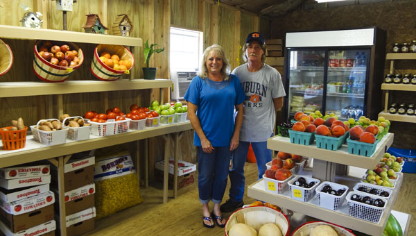 Gina Long and Billy Simmons relocated their produce and plant business, The Market, from Calera to the corner of Shelby County 36 and Shelby County 39 in Chelsea. (Reporter Photo/Emily Sparacino)