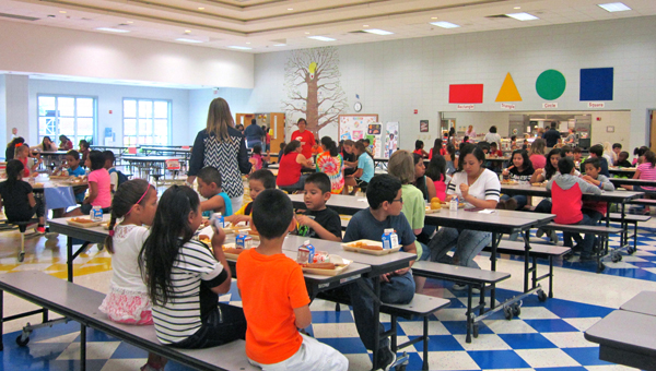 Meadow View Elementary School's summer feeding program provides lunches for both children and adults through July 17. (Special to the Reporter / Ginny Cooper McCarley)