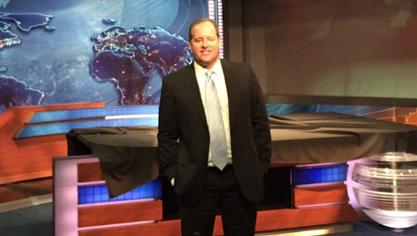 """State Sen. Cam Ward, R-Alabaster, after an interview for Comedey Central's """"The Daily Show with Jon Stewart"""" in New York City on June 14. (Contributed/Cam Ward)"""