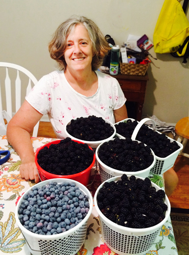 Mary Perko gives her signature blackberry jam away to deserving friends, but also plans this year to sell it. On her initial foray, Perko picked 30 pounds of berries in under two hours and made 24 jars of jam. (Contributed)