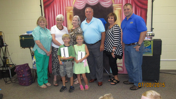 In recognition of Columbiana Public Library's summer reading program participants' efforts, the Columbiana Public Library Board, library staff and local merchants came together to award prizes during celebrations held on July 9, 14 and 16. (Contributed)