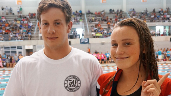 Sam Steele and Rachel Cunningham both have qualified to attend the Olympic trials next summer in Omaha, Nebraska for a chance to earn a spot on the 2016 Summer Olympics team. Steele lives in Pelham and is homeschooled, and Cunningham attends Spain Park High School. (Contributed)