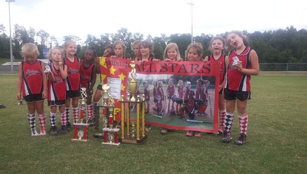 The Alabaster 6U All-Star softball team recently placed second overall in the 6U state tournament. The team placed first and second, respectively, in two pre-area tournaments before winning its area tournament to qualify for the state tournament. (Contributed)