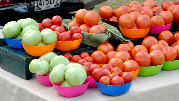Each Saturday through August from 8 a.m. to 12 p.m. brings a variety of healthy locally-grown eating choices to the Helena Farmer's Market. Fried Green Tomatoes, anyone? (Contributed)