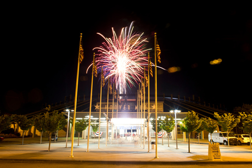 The fireworks show will begin at 9 p.m. and will last about 20 minutes.