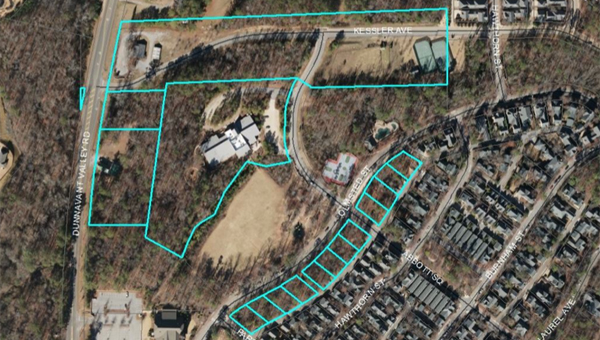 Mt Laurel's amended master plan redesignates two common areas and rezones vacant lots along Olmsted Street. (Contributed)