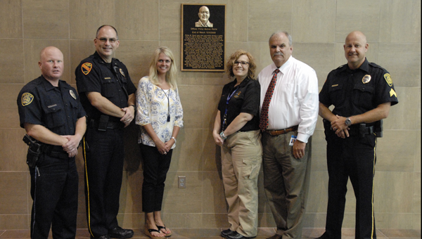 Police Chief Larry Palmer and the entire police department remembers the life and sacrifice of Officer Philip Mahan Davis. (Reporter Photo/ Jessa Pease)